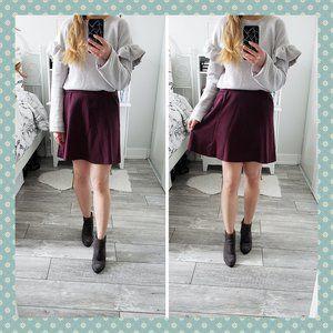 Mossimo Purple Flared Skirt